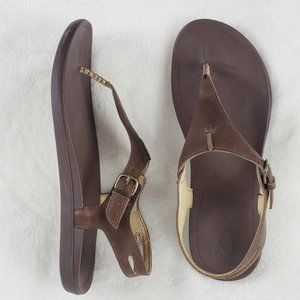 OluKai SASA EHEU leather sandals 9